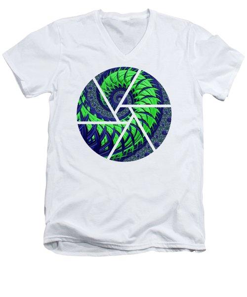 Seahawks Spiral Men's V-Neck T-Shirt