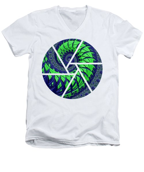 Seahawks Spiral Men's V-Neck T-Shirt