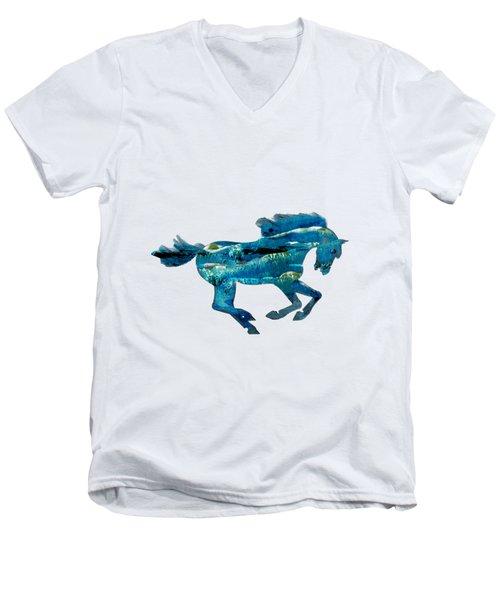 Seahorse By V.kelly Men's V-Neck T-Shirt