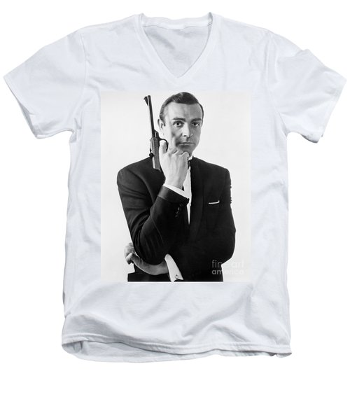 Sean Connery (1930-) Men's V-Neck T-Shirt by Granger