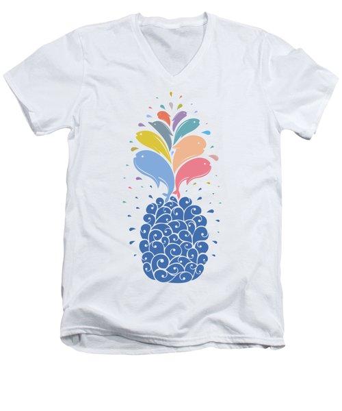Seapple Men's V-Neck T-Shirt by Mustafa Akgul