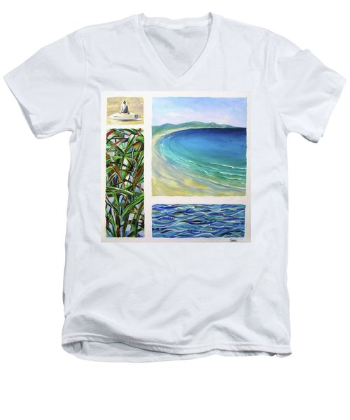 Seaside Memories Men's V-Neck T-Shirt