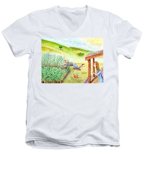 Seasons First Tomatoes Men's V-Neck T-Shirt