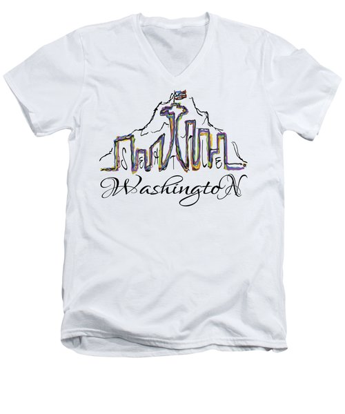 Seattle Men's V-Neck T-Shirt by Devon LeBoutillier