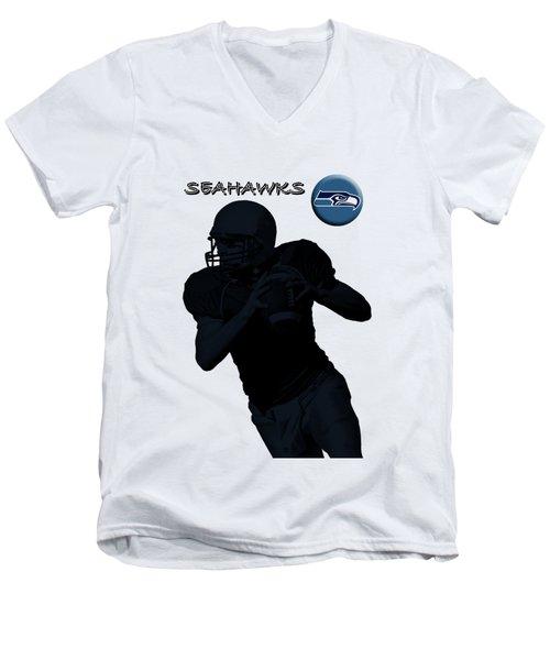 Seattle Seahawks Football Men's V-Neck T-Shirt