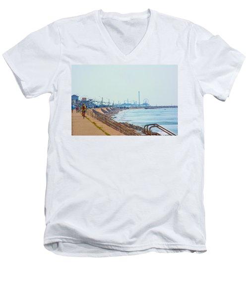 Seawall Blvd Men's V-Neck T-Shirt