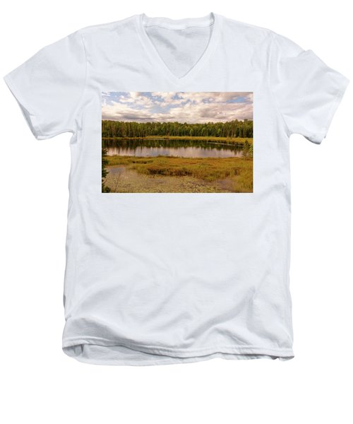 Secluded Lake Men's V-Neck T-Shirt