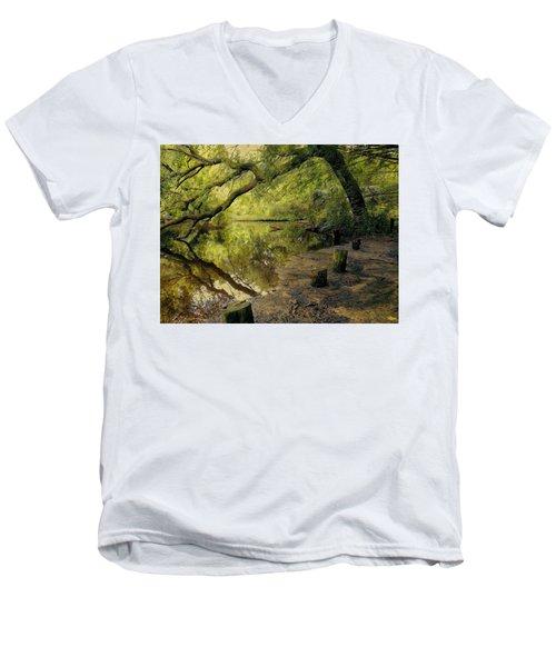 Secluded Sanctuary Men's V-Neck T-Shirt