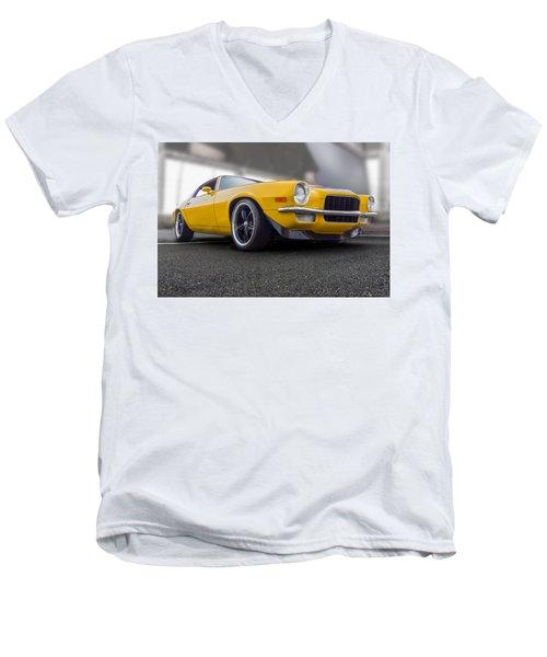 Second Gen Camaro Men's V-Neck T-Shirt by Gary Warnimont