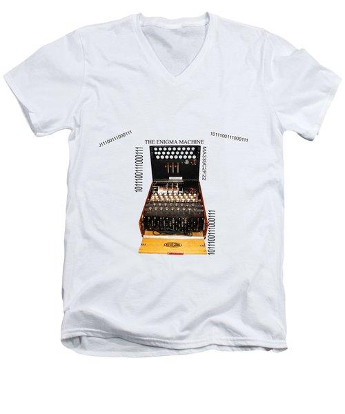 Secret Messages  Men's V-Neck T-Shirt by Tom Conway