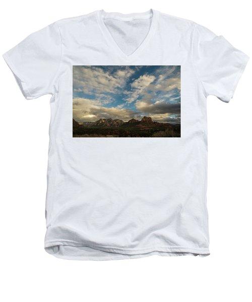 Sedona Arizona Redrock Country Landscape Fx1 Men's V-Neck T-Shirt by David Haskett