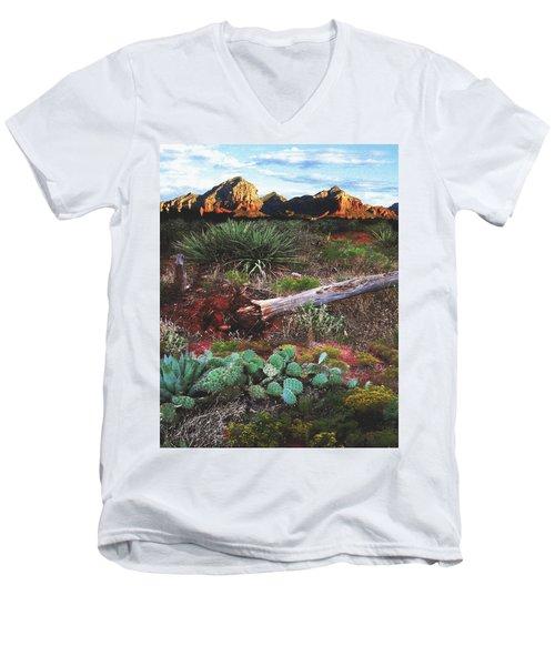 Sedona Mountain Sunrise Men's V-Neck T-Shirt