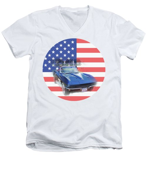 See The Usa Men's V-Neck T-Shirt