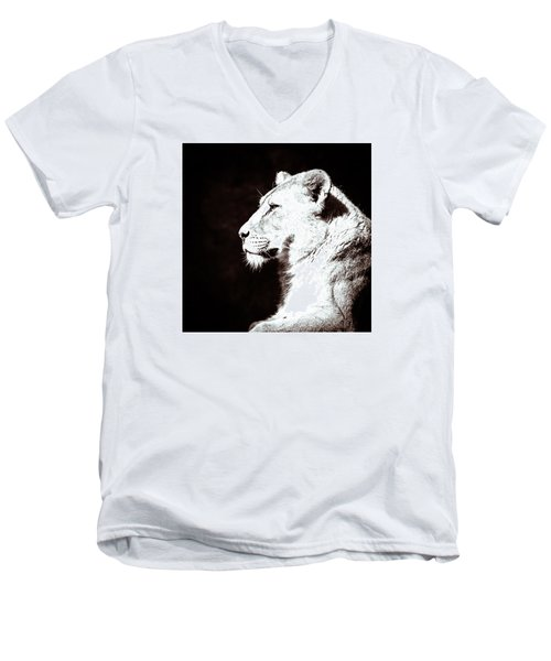 Seeing Double I Men's V-Neck T-Shirt by Wade Brooks