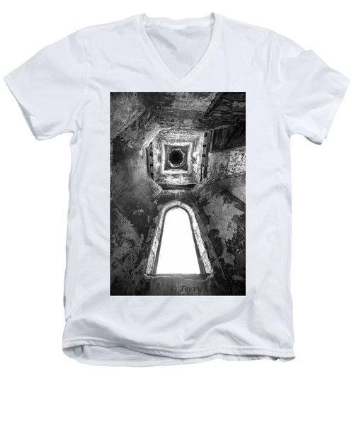 Seeing From With In Men's V-Neck T-Shirt by Terry Cosgrave