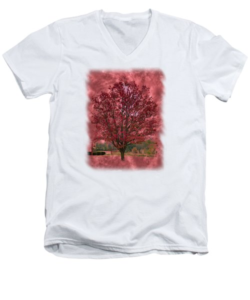 Seeing Red 2 Men's V-Neck T-Shirt by John M Bailey