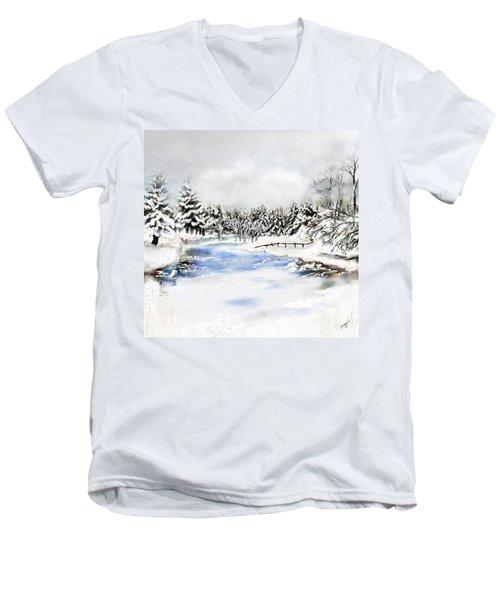 Seeley Montana Winter Men's V-Neck T-Shirt