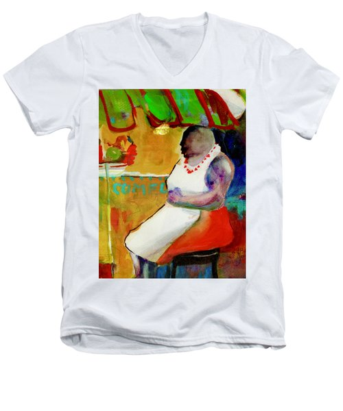 Selling Fruit In Colombia Men's V-Neck T-Shirt