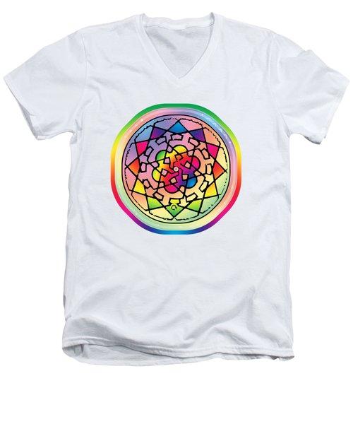Sephardic Medieval Mandala Men's V-Neck T-Shirt