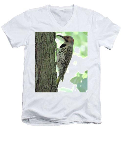 September Flicker Men's V-Neck T-Shirt by Peg Toliver