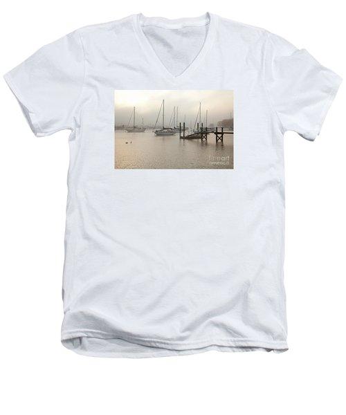 September Fog I Men's V-Neck T-Shirt by Butch Lombardi