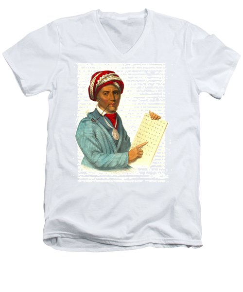 Men's V-Neck T-Shirt featuring the photograph Sequoyah 1838 by Padre Art
