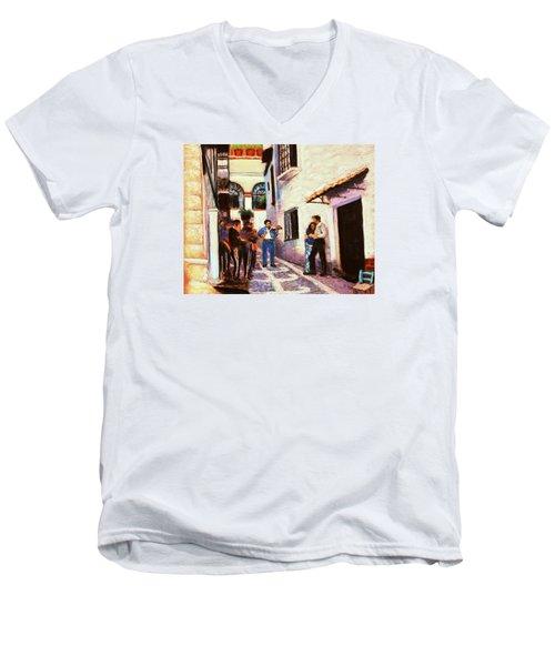 Seranade Men's V-Neck T-Shirt by M Diane Bonaparte