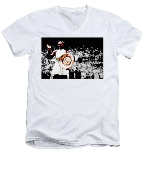 Serena 2016 Wimbledon Victory Men's V-Neck T-Shirt
