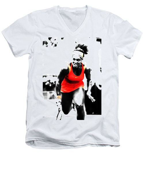 Serena Williams Go Get It Men's V-Neck T-Shirt
