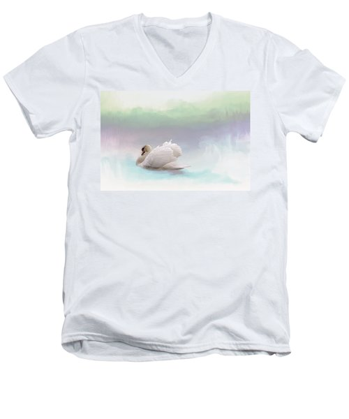Men's V-Neck T-Shirt featuring the photograph Serenity by Annie Snel