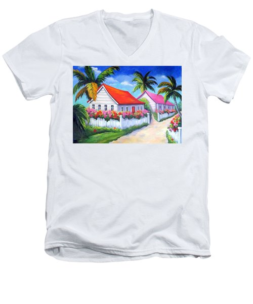 Serenity In Paradise Men's V-Neck T-Shirt