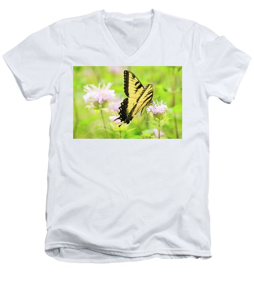 Series Of Yellow Swallowtail #4 Of 6 Men's V-Neck T-Shirt