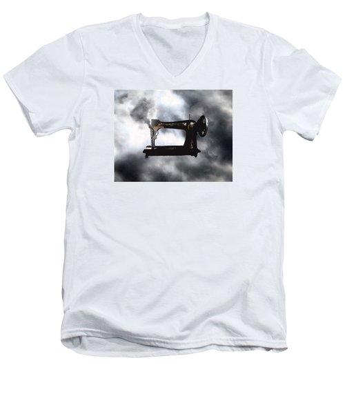 Sewing Gun Men's V-Neck T-Shirt by Christopher Woods