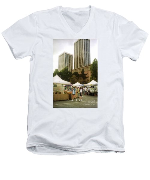 Sf Embarcadero Center Farmer Mkt Men's V-Neck T-Shirt