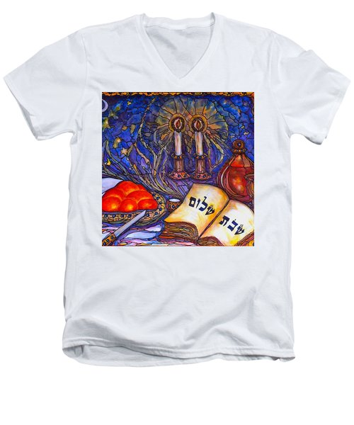 Shabbat Shalom Men's V-Neck T-Shirt
