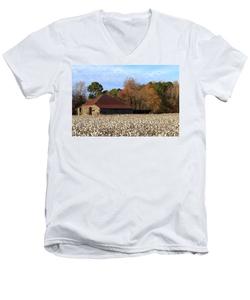 Shack In The Field Men's V-Neck T-Shirt