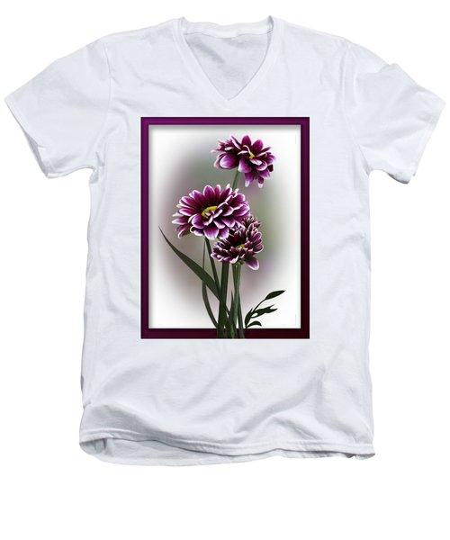 Shades Of Purple Men's V-Neck T-Shirt by Judy Johnson