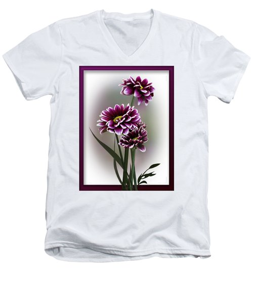 Shades Of Purple Men's V-Neck T-Shirt