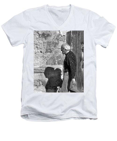 Shadow Of A Man Men's V-Neck T-Shirt by Jim Walls PhotoArtist