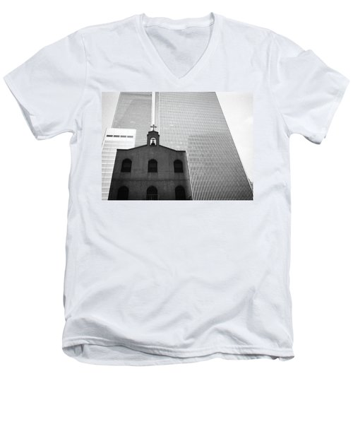 Shadow Of World Trade Center Men's V-Neck T-Shirt