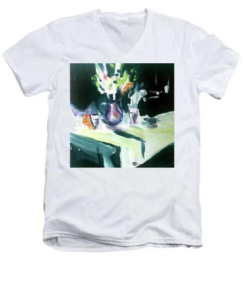 Shadow Stillness Men's V-Neck T-Shirt