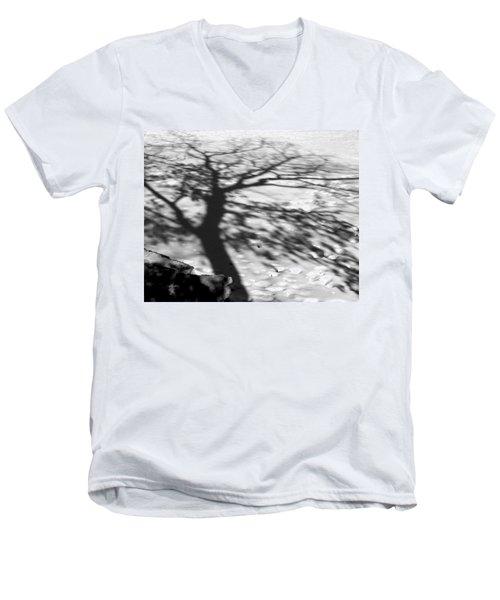 Shadow Tree  Herrick Lake  Naperville Illinois Men's V-Neck T-Shirt by Michael Bessler