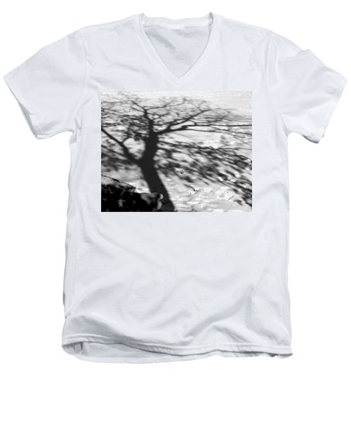Shadow Tree  Herrick Lake  Naperville Illinois Men's V-Neck T-Shirt