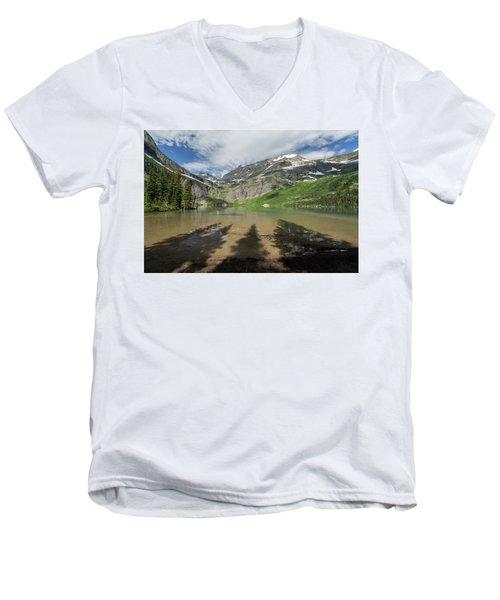 Shadows Men's V-Neck T-Shirt by Alpha Wanderlust