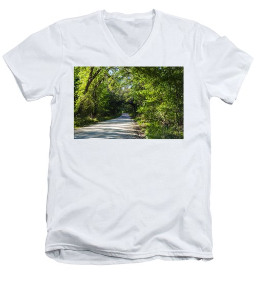 Shady Lane In Ocklawaha Men's V-Neck T-Shirt by Deborah Smolinske