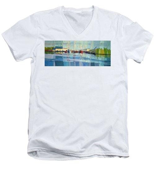 Shark River Inlet Men's V-Neck T-Shirt