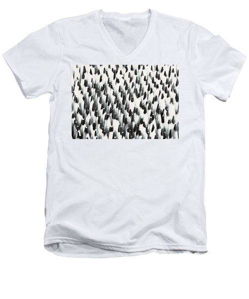 Men's V-Neck T-Shirt featuring the photograph Sharp Wooden Pencils by Evgeniy Lankin