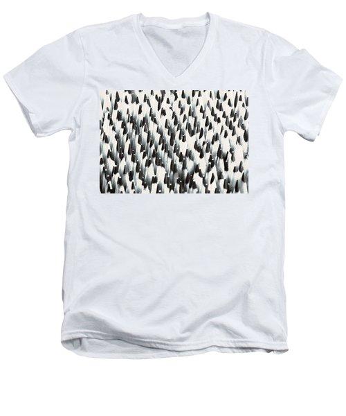 Sharp Wooden Pencils Men's V-Neck T-Shirt by Evgeniy Lankin