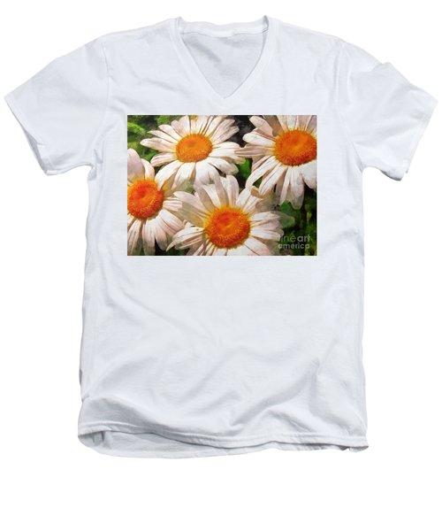 Shasta Daisies 2015 Men's V-Neck T-Shirt