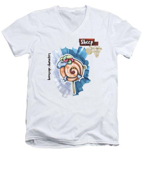 Sheep Horoscope Men's V-Neck T-Shirt